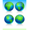 Blue earth balls vector