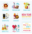 New year infographic - party ideas and themes vector