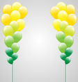Air balls on gray vector