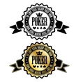 Poker room sign vector