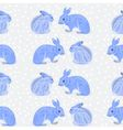 Seamless texture rabbits and snow vector