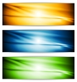 Bright glowing banners vector