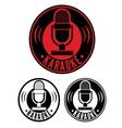 Karaoke microphone symbol vector