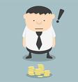 Fat businessmen see found money vector