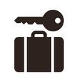 Baggage storage - travel icon vector