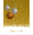 Gold new years decoration vector