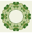 Round ornamental frame vector