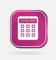 Square icon calculator vector