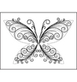 Abstract black butterfly vector