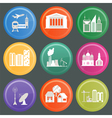 City infrastructure icons vector