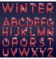 Winter alphabet vector