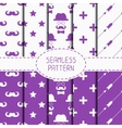 Set of hipster fashion geometric seamless pattern vector