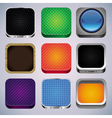Set with 9 app icons vector