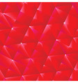 Red origami background vector