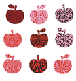 Apple with patterns - abstract vector