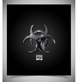Transparent glass biohazard sign vector