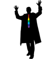 Rainbow tie businessmen silhouette vector