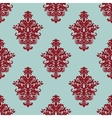 Retro maroon or crimson seamless pattern vector