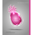Abstract banner in the form of an pineapple vector