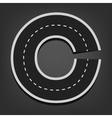 C letter road font vector