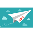 Seo - serach engine optimization plane vector