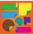 Set of blank stickers vector