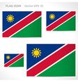 Namibia flag template vector