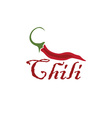 Hot chili pepper design template vector