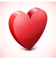 Abstract red heart icon vector