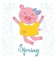 Jumping pig vector