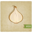 Vegetable eco old background vector
