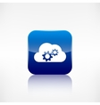 Cloud settings icon application button vector