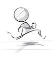Simple people race running vector