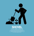Shovel and gardener symbol vector