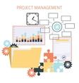 Flat design of project management vector