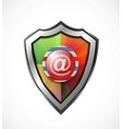 Email protection icon  shield vector