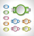 Set of colorful blank badges tags banners label vector