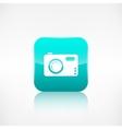 Digital photo camera icon application button vector