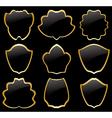 Gold and black heraldic frames - set vector