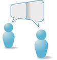 People symbols share talk communication speech bub vector