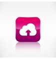 Cloud upload icon application button vector