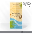 Party invitation card design template vector