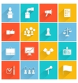 Elections icons white set vector
