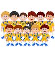 Football team cartoon vector