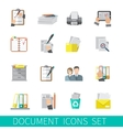 Document icon flat vector