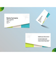 New bright white business card layout vector