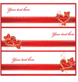 Golden love banners vector
