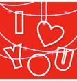 I love you creative card vector