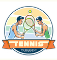 Emblem of tennis tournament vector