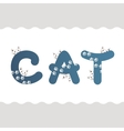 Cat letters vector